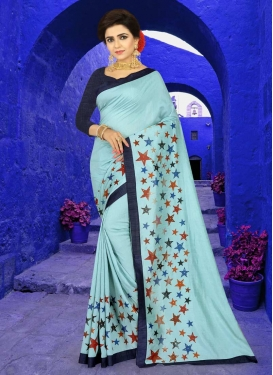 Art Silk Lace Work Designer Traditional Saree