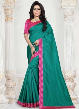 Art Silk Lace Work Designer Traditional Saree