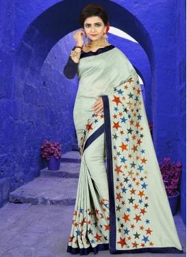 Art Silk Lace Work Traditional Designer Saree
