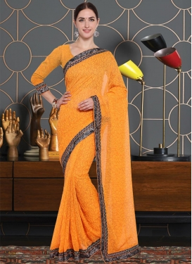 Art Silk Lace Work Traditional Saree