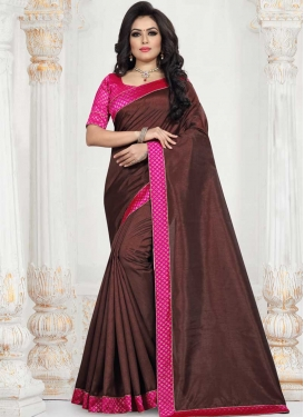 Art Silk Lace Work Traditional Saree