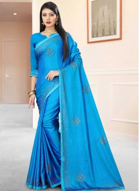 Art Silk Lace Work Trendy Classic Saree