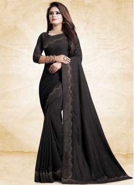 Art Silk Lace Work Trendy Classic Saree