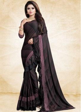 Art Silk Lace Work Trendy Designer Saree