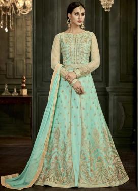 Art Silk Layered Designer Anarkali Suit