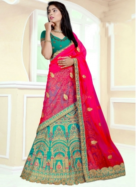 Art Silk Lehenga Choli For Festival
