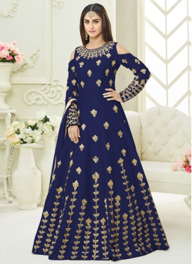 Art Silk Long Length Designer Suit