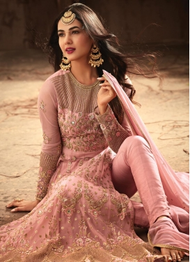 Art Silk Pant Style Designer Salwar Kameez