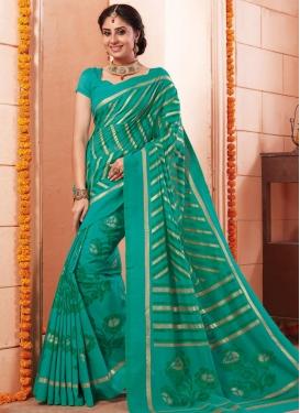 Art Silk Print Work Classic Saree