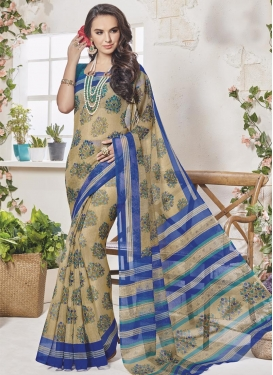 Art Silk Print Work Traditional Saree