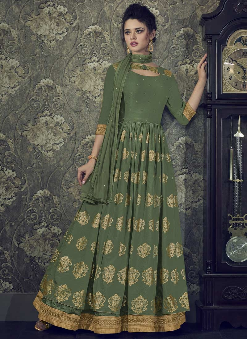 Art Silk Readymade Classic Gown For Festival