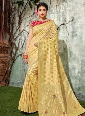 Art Silk Resham Work Trendy Classic Saree