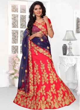 Art Silk Resham Work Trendy Lehenga Choli