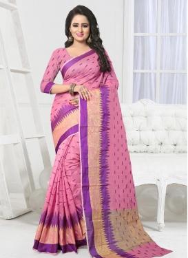 Art Silk Thread Work Classic Saree