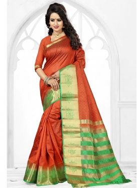 Art Silk Thread Work Contemporary Saree