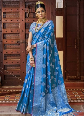 Art Silk Thread Work Designer Traditional Saree
