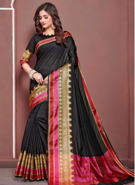 Art Silk Thread Work Traditional Designer Saree