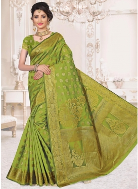 Art Silk Thread Work Trendy Classic Saree