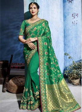 Art Silk Traditional Saree For Bridal