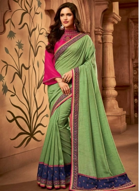 Art Silk Traditional Saree For Party