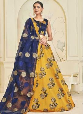 Art Silk Trendy A Line Lehenga Choli