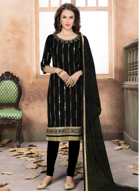 Art Silk Trendy Churidar Salwar Kameez