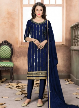 Art Silk Trendy Churidar Salwar Suit For Ceremonial