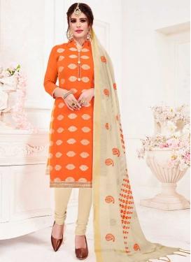 Art Silk Trendy Churidar Suit