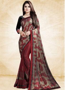 Art Silk Trendy Classic Saree For Ceremonial
