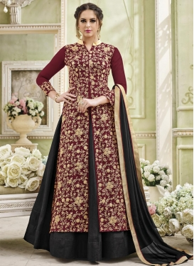 Art Silk Trendy Designer Salwar Kameez