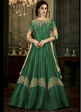 Art Silk Trendy Designer Salwar Kameez For Festival