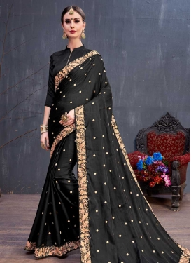 Art Silk Trendy Designer Saree For Festival