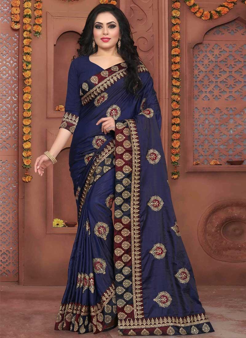 Art Silk Trendy Designer Saree For Party