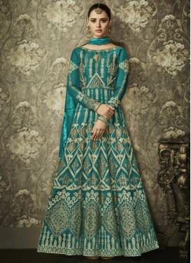 Art Silk Trendy Kalidar Salwar Kameez