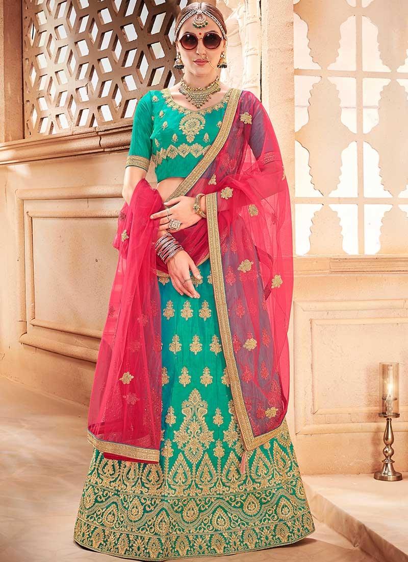 Art Silk Trendy Lehenga