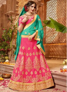 Art Silk Trendy Lehenga Choli For Ceremonial