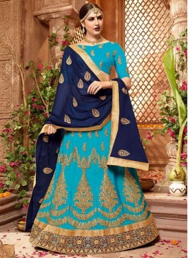 Art Silk Trendy Lehenga For Ceremonial