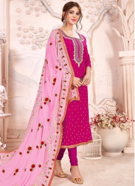 Art Silk Trendy Pakistani Salwar Kameez For Festival