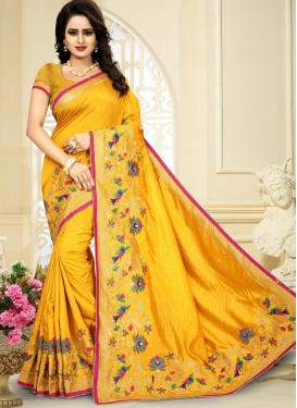 Art Silk Trendy Saree For Ceremonial