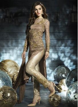Artistic Brown Color Pant Style Designer Salwar Suit