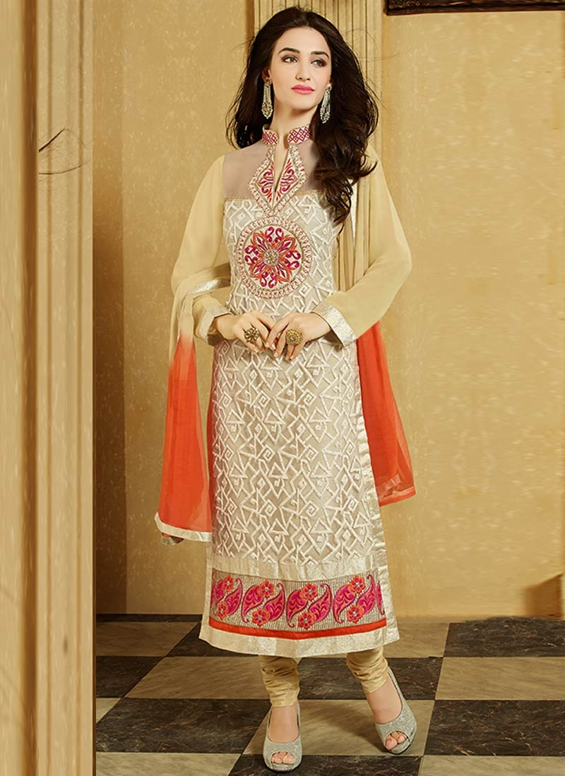 Artistic Embroidery Work Party Wear Suit