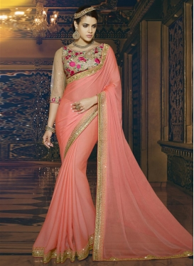 Artistic  Floral Work Designer Contemporary Style Saree