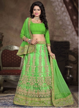 Artistic Mint Green Color Stone Work Bridal Lehenga Choli