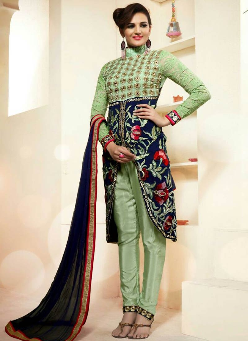 Artistic Mirror Work Pant Style Designer Salwar Kameez