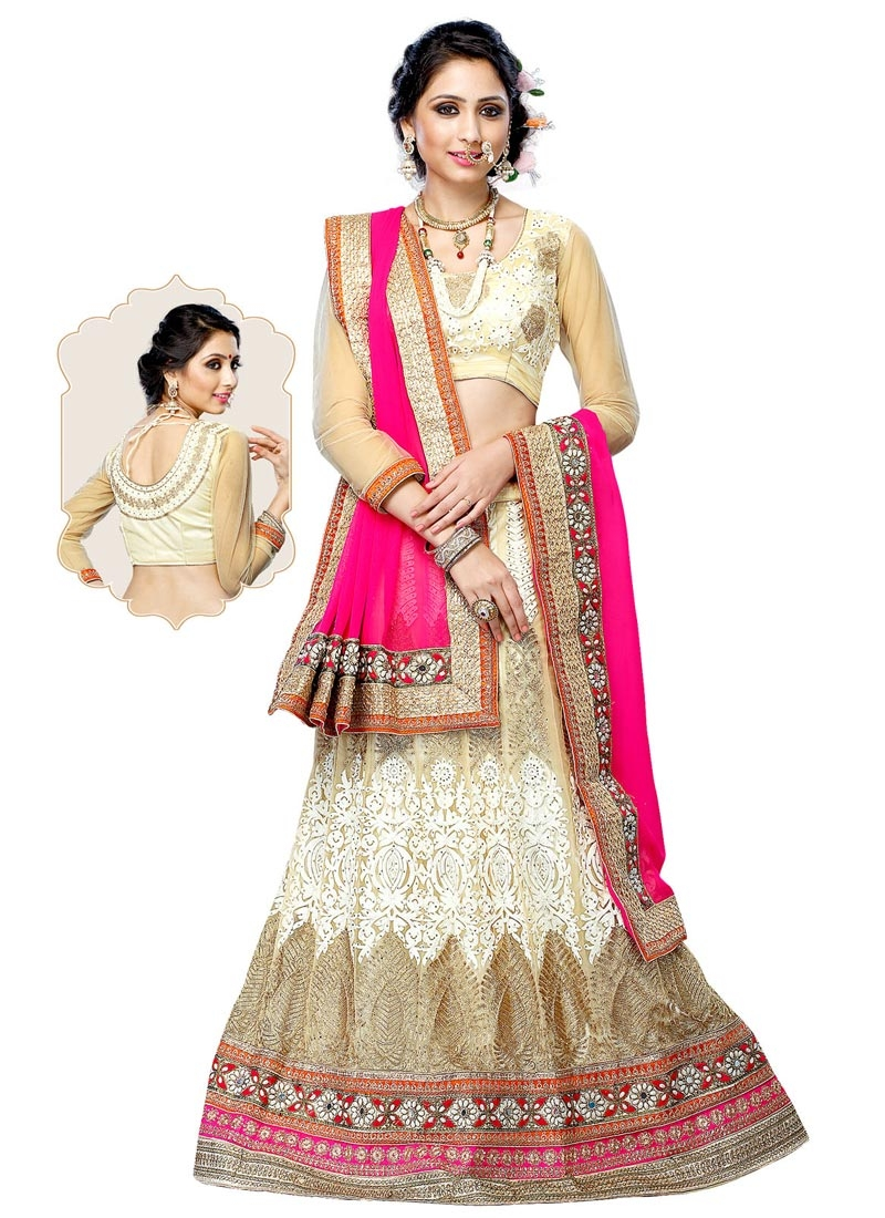 Artistic Patch Border Work Wedding Lehenga Choli
