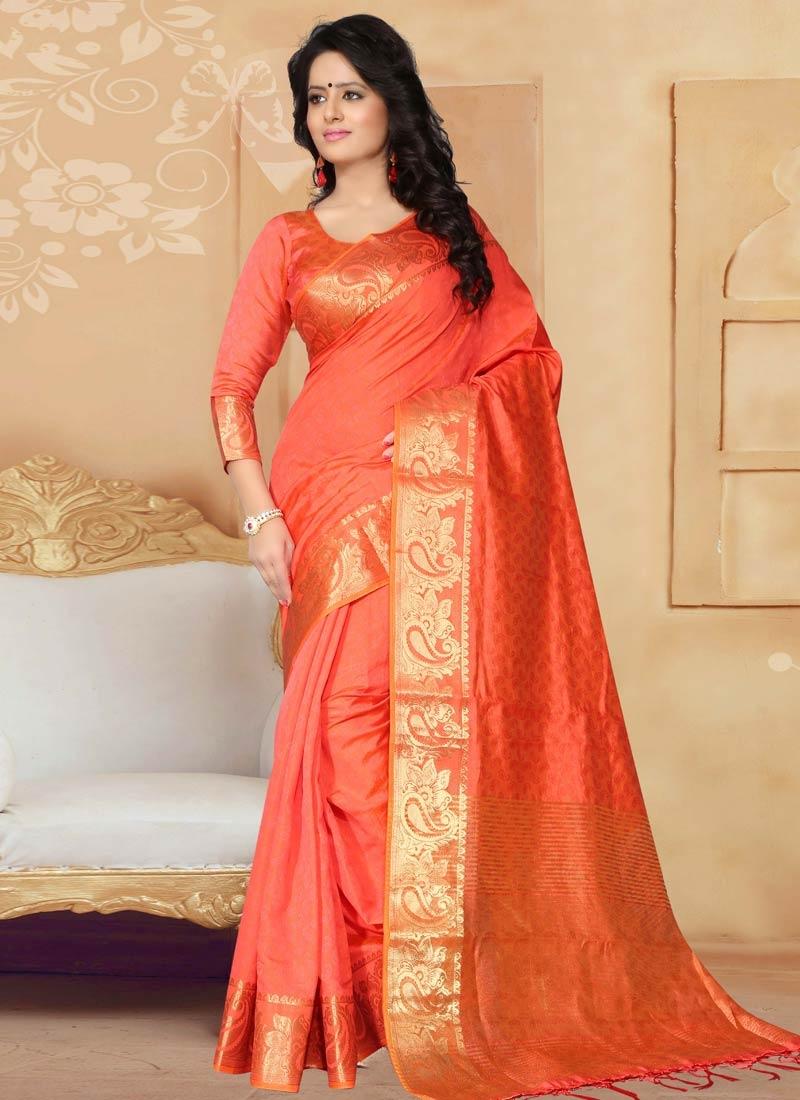 Artistic Resham Work Banarasi Silk Casual Saree