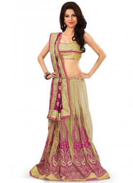 Artistic Resham Work Viscose Half N Half Designer Saree