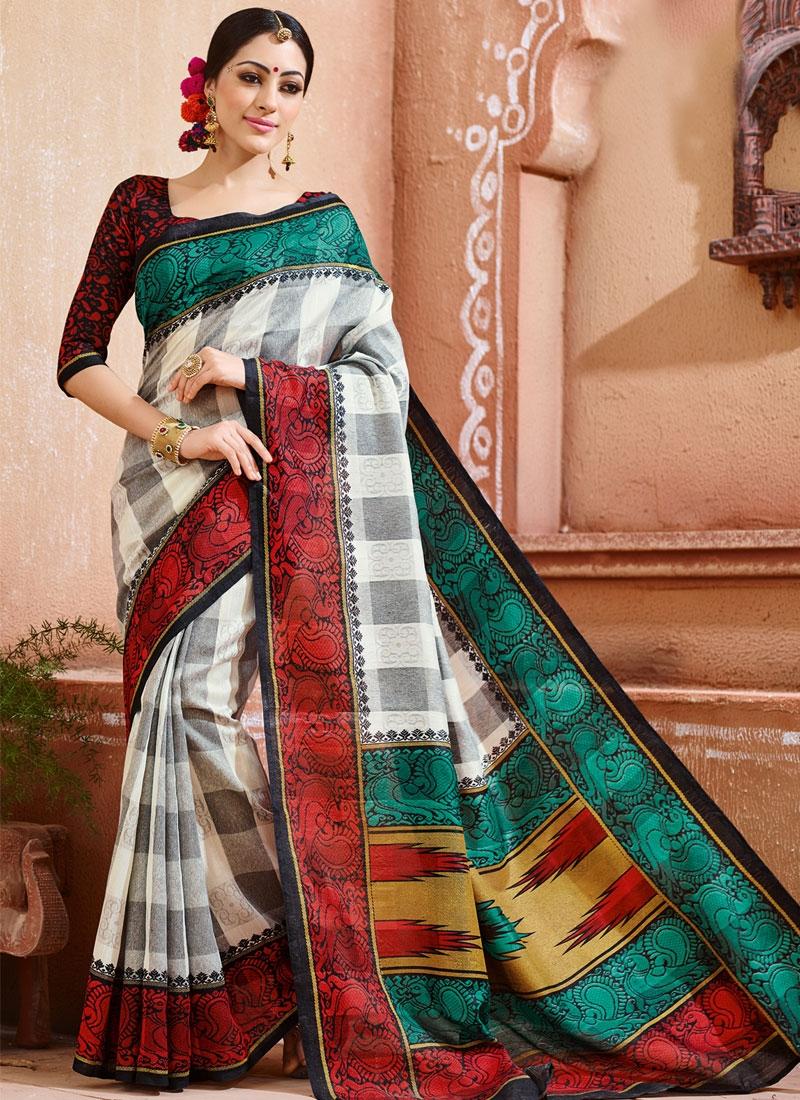 Aspiring Art Silk Printed Casual Saree