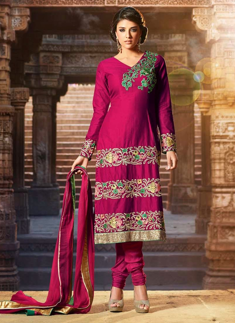 Aspiring Jaal And Resham Work Party Wear Suit