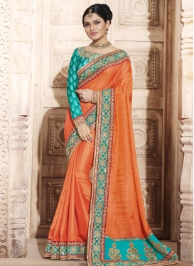 Aspiring Lace Work Traditional Designer Saree